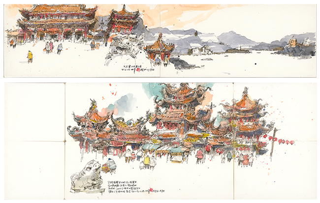 張柏舟-台灣傳統廟宇Traditional Taiwan Temple Series