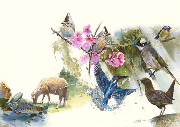 楊恩生 《自然之聲》Cover of Sounds of Nature_ picture book