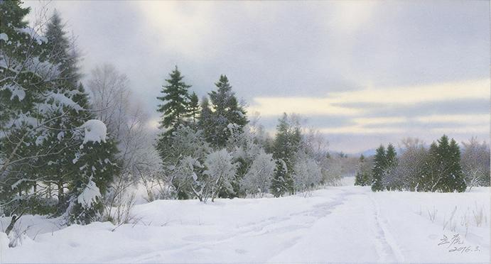 長白雪霽Twilight at Dusk