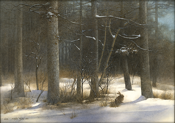 黃曉惠 雪地野兔A Hare in the Snow